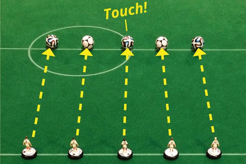 Practicing Subbuteo: Difficult No.13