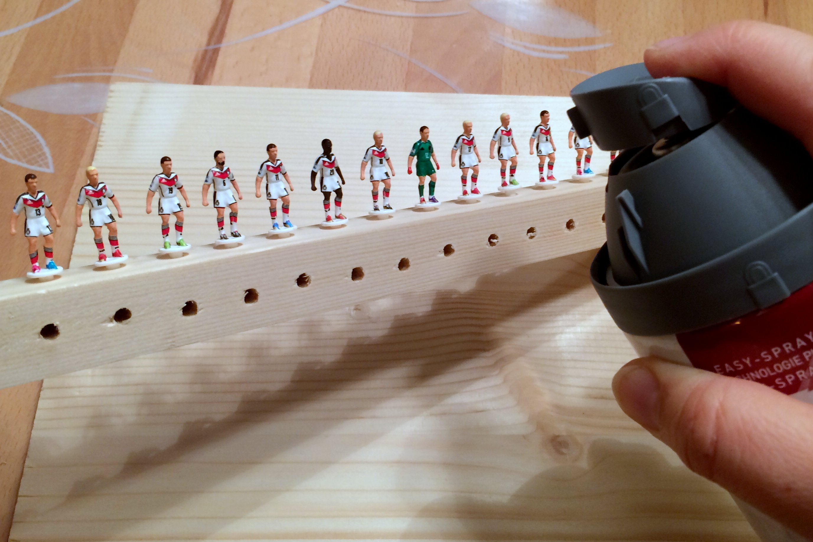 Painting Subbuteo teams 7