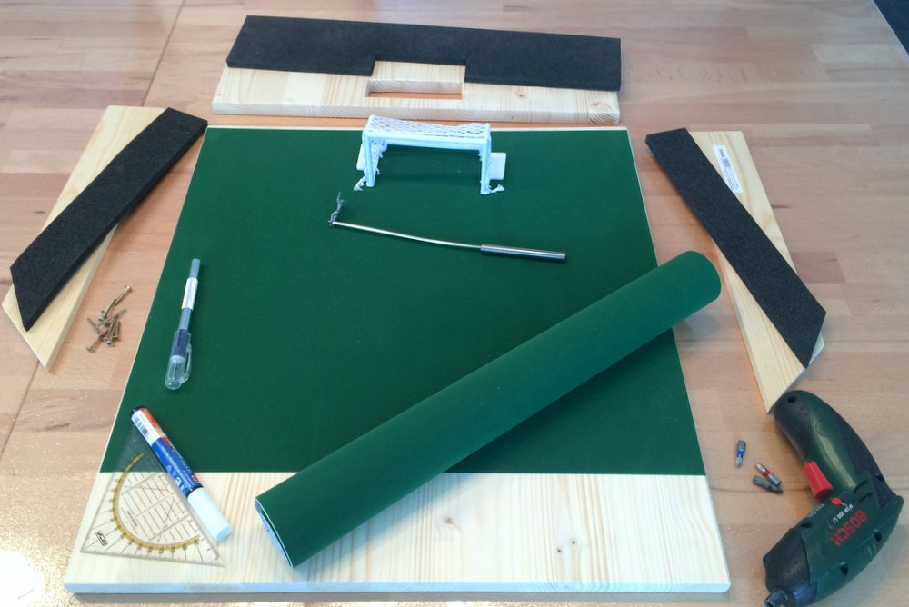 DIY Subbuteo shooting arena 1
