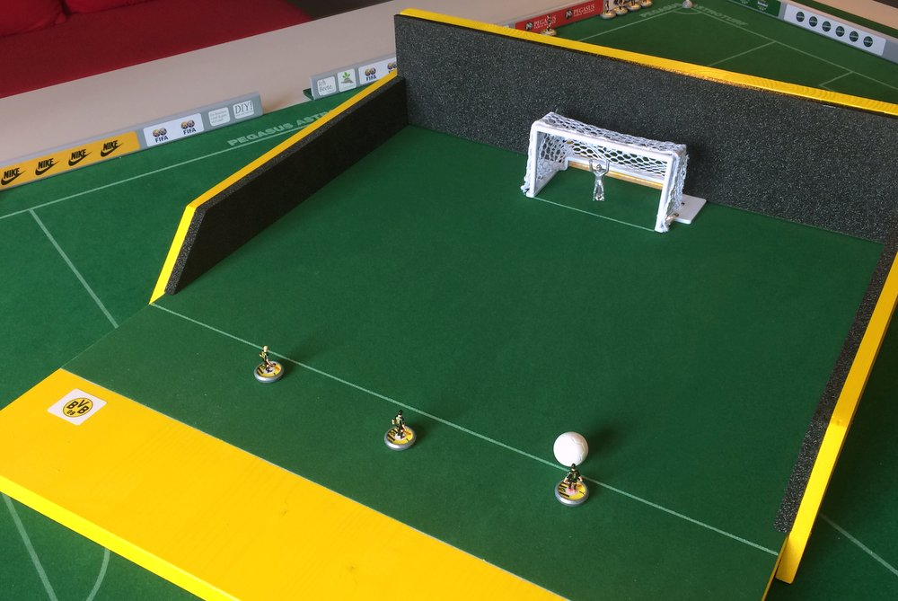 DIY Subbuteo shooting arena 2
