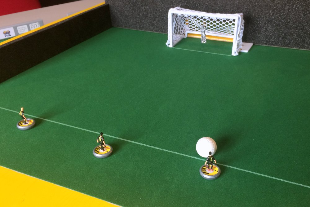 DIY Subbuteo shooting arena 3
