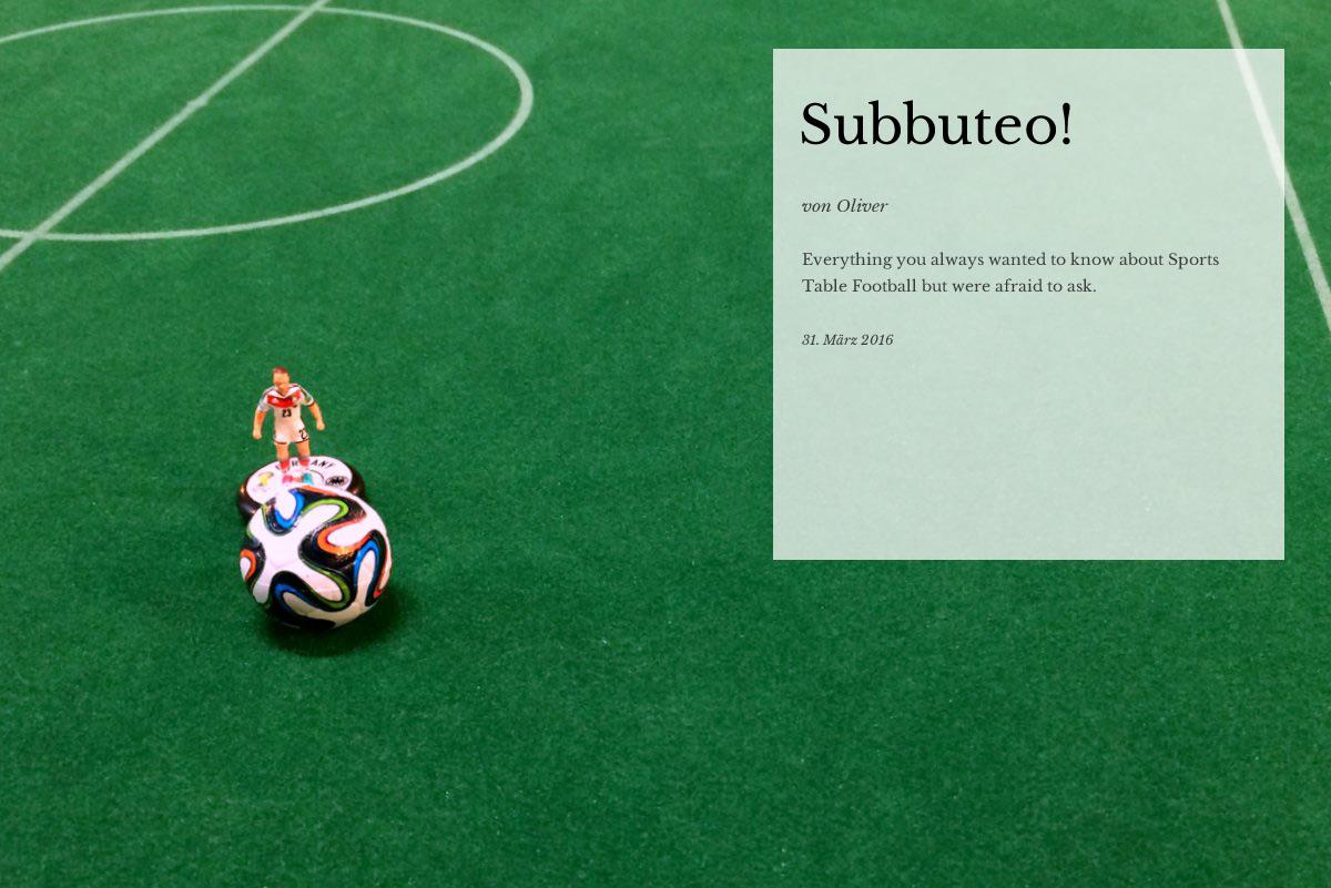 Subbuteo: A love story