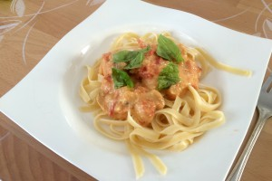 Spaghetti mit Cashewcreme