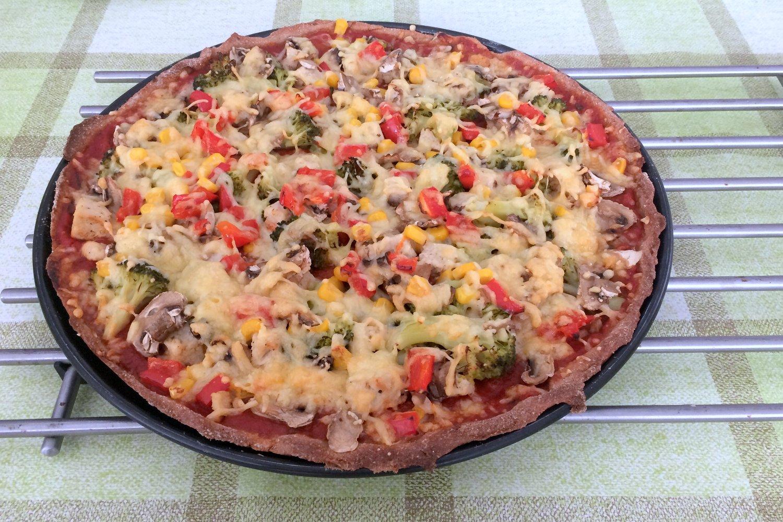 Rezept für leckere Vollkornpizza